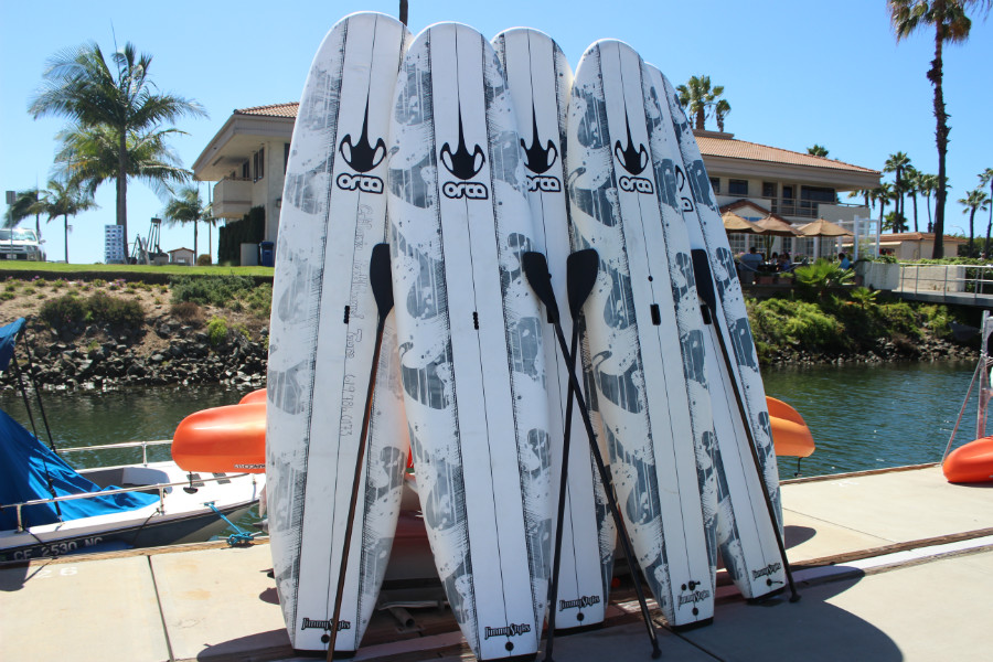 group paddleboard tours on San Diego Bay